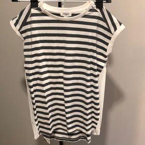 NWT Umgee black/white shirt w/  side detail